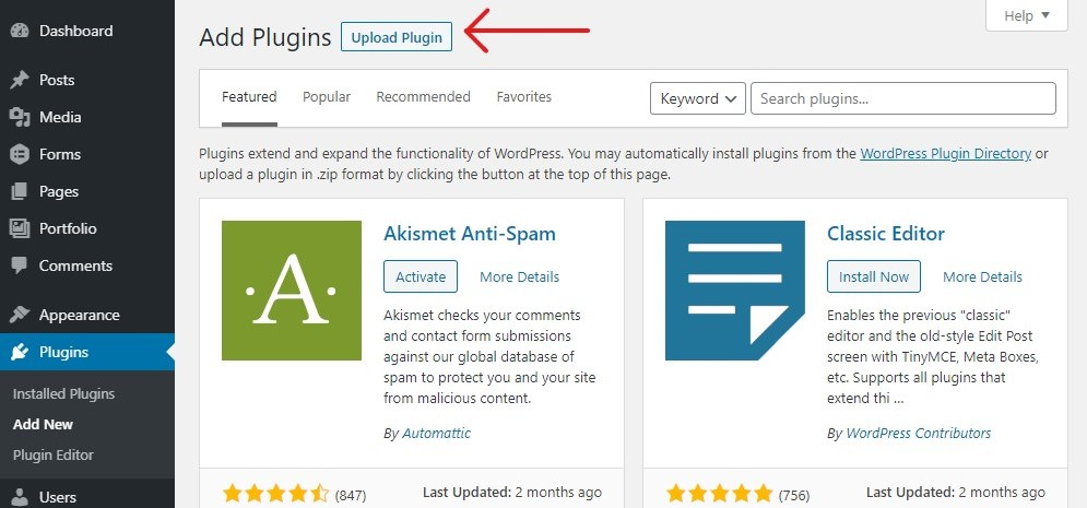 Installing a wordpress plugin tutorial - Step 1